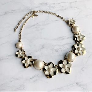 Kate Spade Floral Pearl Statement Necklace New